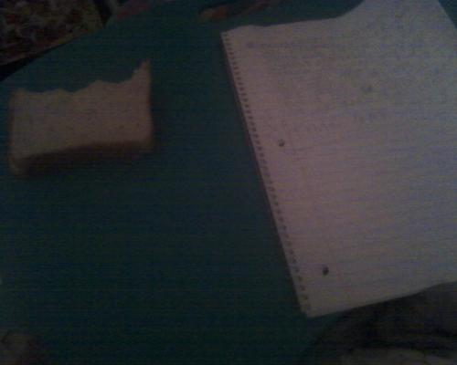 Letter writing and sandwich eating at 5am.