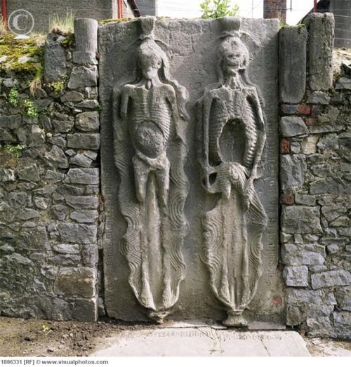 Cadaver gravestone, cemetery of St. Peter's Church, Drogheda, Co Louth, Ireland