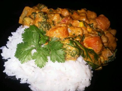 Vegan cashew curry