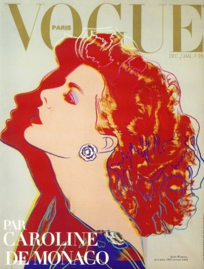 Caroline de Monaco, Vogue Paris's December 1983/January 1984 issue Designed by Andy Warhol