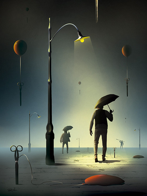 Tesouras. by Marc Arambr Digital ArtSurrealism