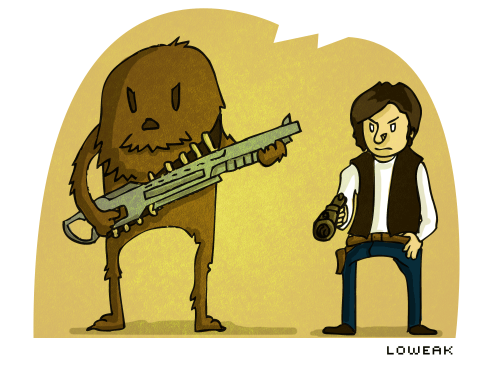 Today, a Chewbacca & Han illustration !