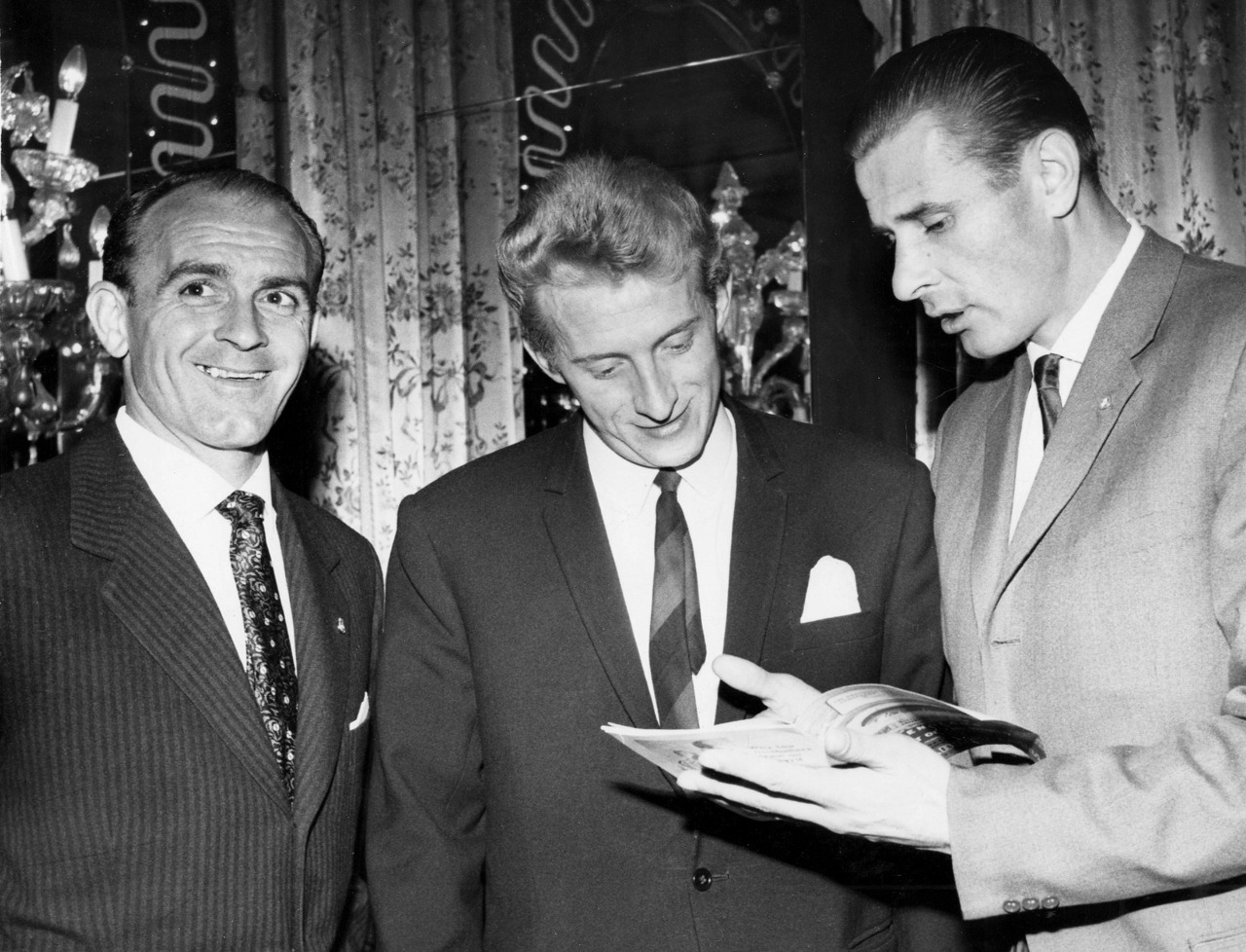 Alfredo Di Stefano, Denis Law and Lev Yashin, 1963.