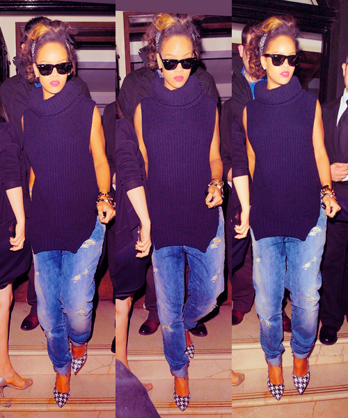 I actually really like when Rihanna is dress kinda more casual like this