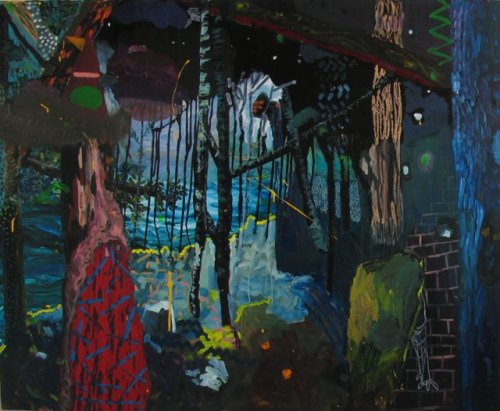 SHARA HUGHES Dark Walk, 2011 Oil on canvas Shara Hughes' Website