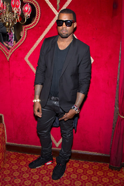 Kanye West @ Carine Roitfeld's Irreverent Dinner held during Paris Fashion Week