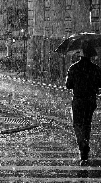 shanestroud:  Guy in the Rain (BW) on Flickr.