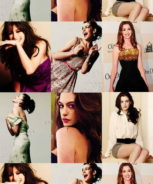 neveraqueen:   25 Beautiful People (no order)  18. Anne Hathaway