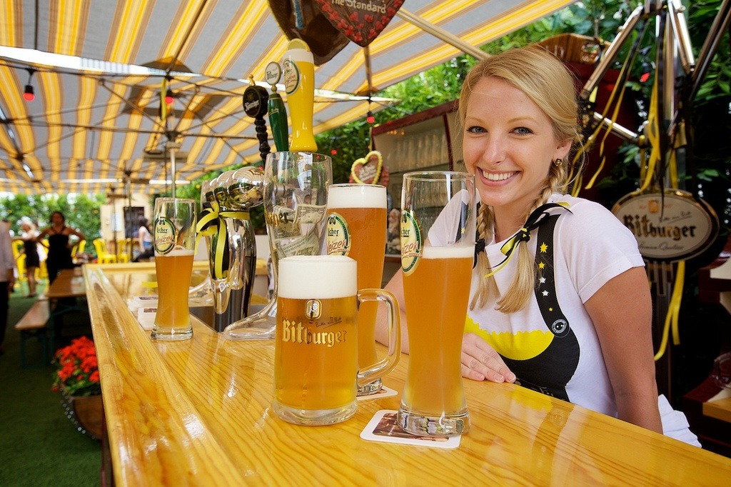 Introducing our brand new Biergarten! We bring the beer, pretzels, + other Bavarian delights over to The Standard, Downtown LA.