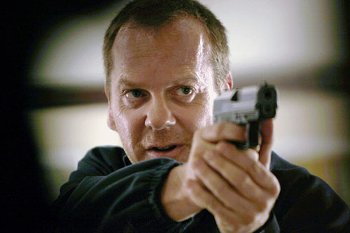 "totalfilm:  Kiefer Sutherland: 24 movie script nearly ready Who would want to be a writer on the 24 movie? Picture the scene: Kiefer Sutherland comes in, talking all nice and calmly before screaming ""TELL ME WHERE THE SCRIPT IS"" and waterboarding you using the office watercooler.  Perhaps we're letting our imagination run away with us. Still, the clock is ticking and there's no shoot scheduled for a 24 movie yet.  ""We are coming very close to having a finished script. That's been the most difficult thing,"" Sutherland said.[FOR THE FULL STORY, CLICK ON JACK OR FOLLOW THIS LINK]"