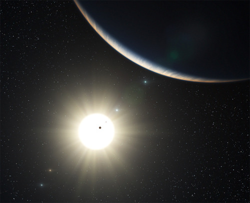 "Weird Exoplanetary System Dances To the Beat  If there's one thing to be said for the Kepler mission, it's certainly turning up some very strange new worlds. Recently, the mission has spotted a Tatooine-like exoplanet; it's found evidence for a ""phantom"" world; spied a tightly-packed six-pack and even found an exoplanet darker than coal. Now, a sun-like star — called Kepler-18 — has been spotted with a super-Earth and two Neptune-like worlds orbiting it.  Read more"