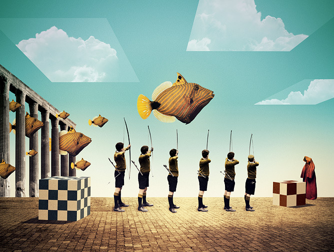 surrealism:  Tutorials by Julien Pacaud, 2011.