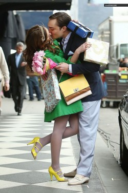 "Chuck and Blair. ""I love you too."""