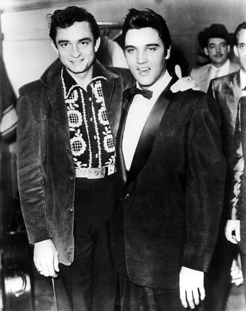 Johnny Cash and Elvis (1957)