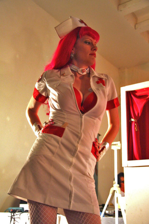 Art of Bleeding Nurse Jezebelle.  (PHOTO: Melissa Tremblay)