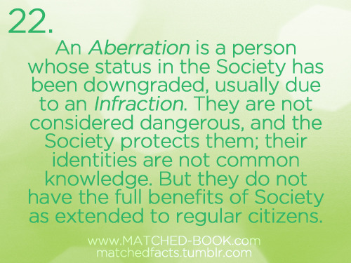 "This is a really useful MATCHED Fact; since both Aberration (which I always want to spell with two ""b""s for some reason!) and Anomaly start with the letter ""A"", sometimes I get them confused, but the difference is important!"