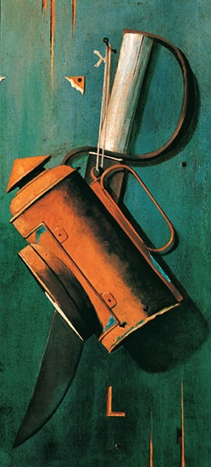 John Frederick Peto Lantern and D-Guard Bowie Knife 19th century