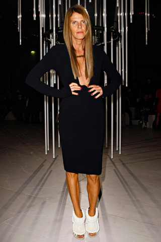 "Anna Dello Russo in Dw by Kanye West Spring 2012.  Complete with ""Yeezy"" chain."