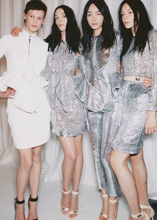 Givenchy spring 2012 backstage