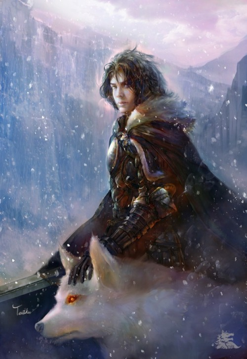 Jon Snow: Game of Thrones - The Song of Ice and Fire by Teiiku