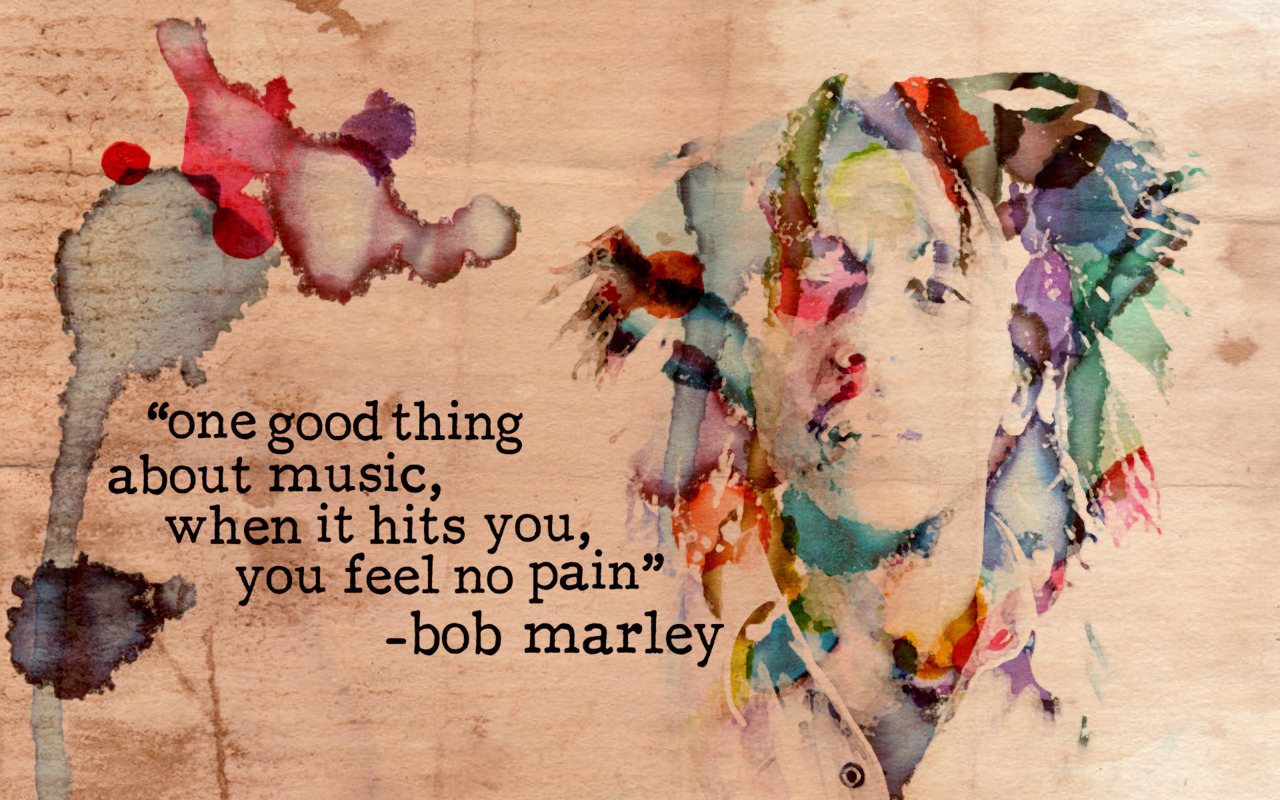 Bob Marley Watercolour Poster Based on this tutorial