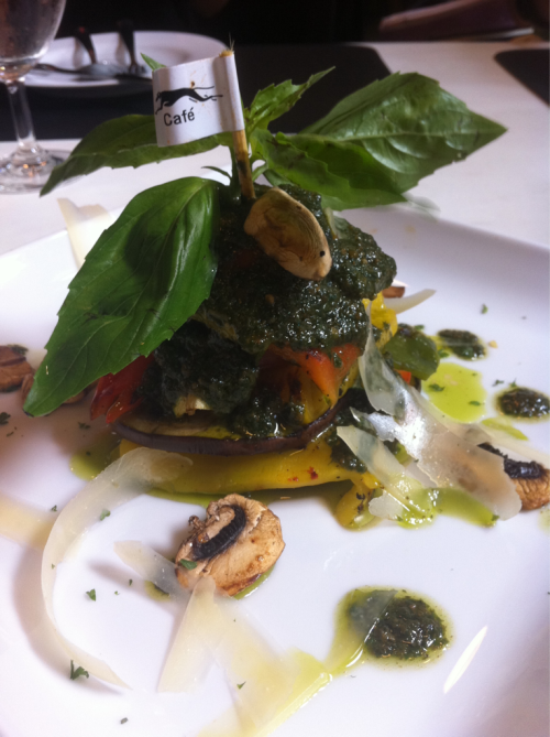 Thai food: Vegetarian Season(5). Grilled vegetable with pesto dressing