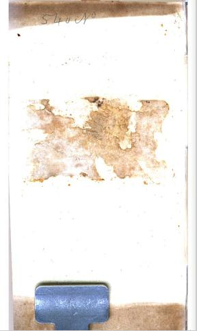Paper (likely a bookplate) pasted to inside of front cover was ripped off. From the front matter of The Power of Religion on the Mind, by Lindley Murray (1801). [Here] Follow The Art of Google Books on Facebook!