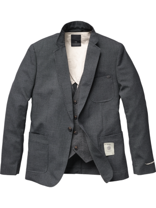 fashion-profession:  Blazer with fake gilet - Men - Scotch & Soda Online Shop