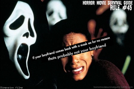 horrormoviesurvivalguide:  Scream 2 (1997)   lol