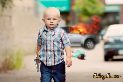 Badass Kid Walks Away from Explosion Crime doesn't play.