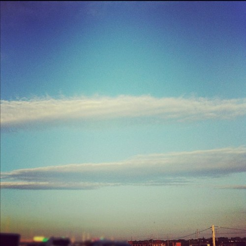 The clouds look fake this morning.  (Taken with instagram)