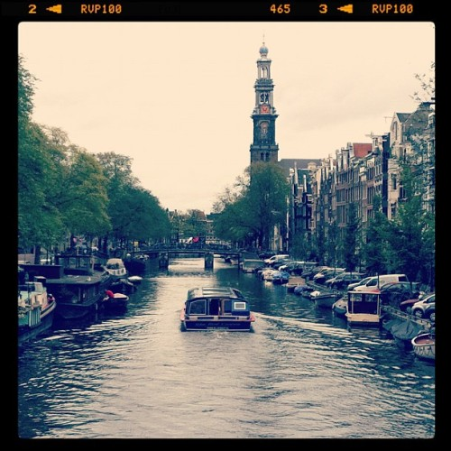 """Breezing through Amsterdam … """