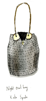 our night owl bag as illustrated by nice to draw.