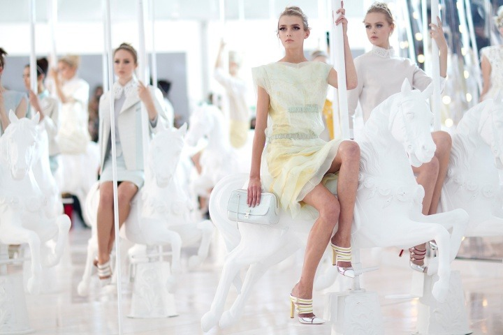 ON THE RUNWAY: Louis Vuitton Spring 2012 Photographed by Kevin Tachman