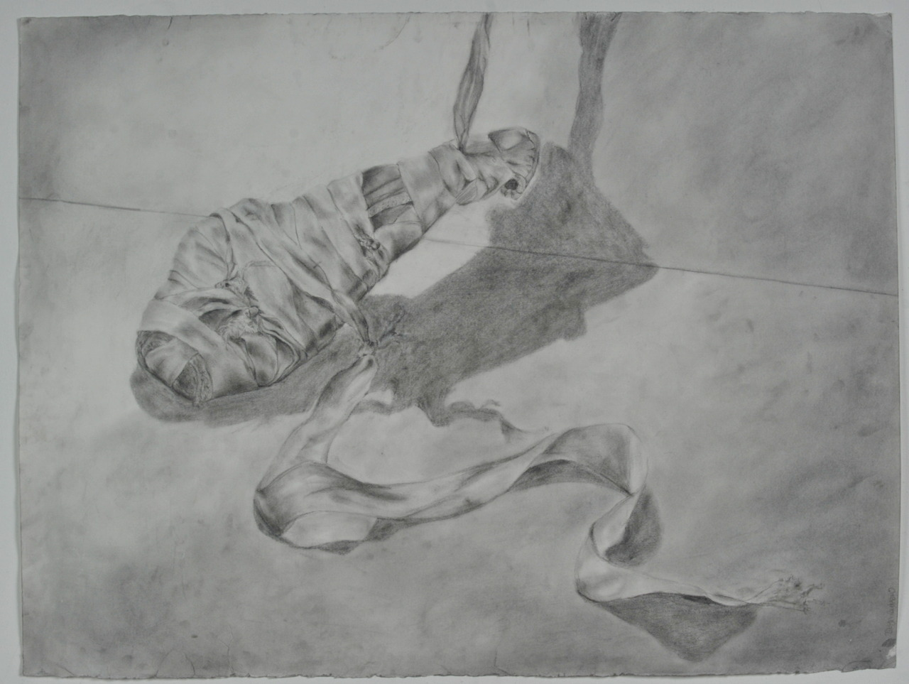 Grishko 2007 (wrapped), graphite on paper, 24x32, 2009