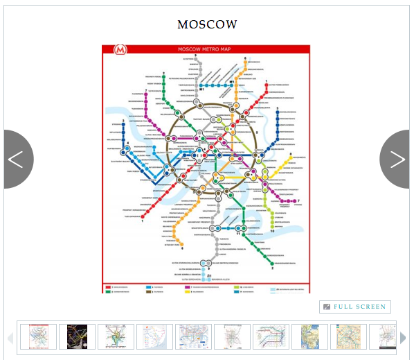 The World's Best Subway Maps  Mass transit maps can be a big part of the visual culture of cities.  The more iconic the map, the more likely it is to be turned into a t-shirt, an umbrella, even a shower curtain. Here's a look at 20 different subway system maps that serve as a window into the culture of their respective cities.