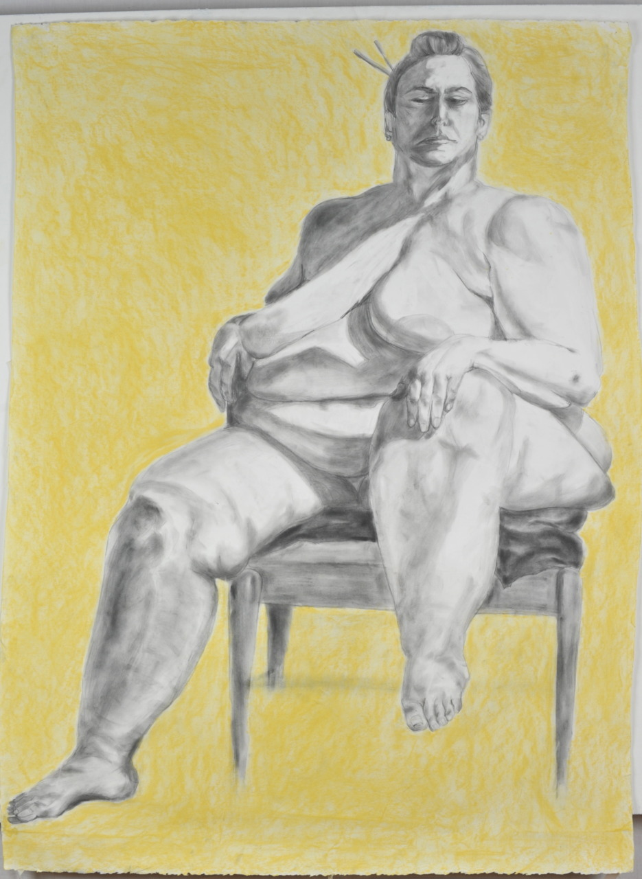 Georgia, graphite, chalk pastel on Paper, 48x60, 2009