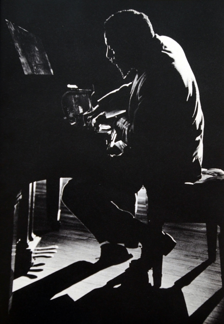 Thelonious Monk in performance at Town Hall, New York photo by Dennis Stock