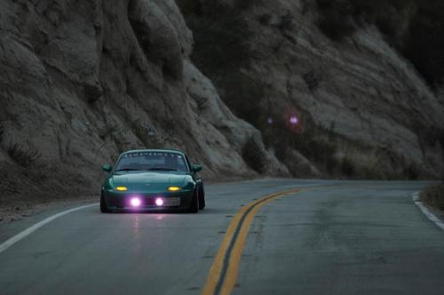 fmwrath:  Slammed Miata in the canyons.