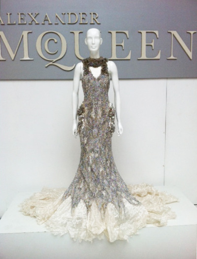 glamour:  Sarah Burton for Alexander McQueen, spring 2012 (as seen in the Paris showroom)