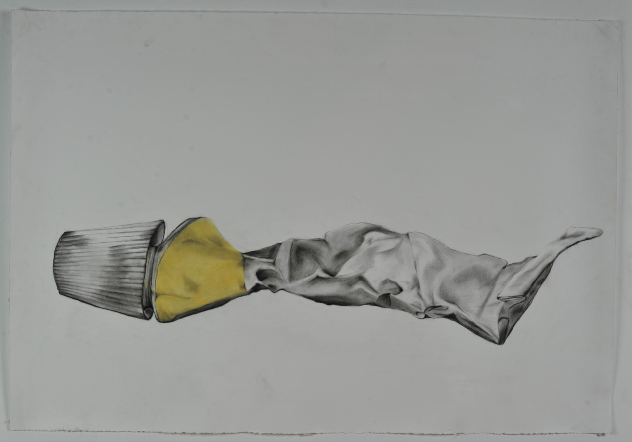 Lemon Yellow, Charcoal, Chalk pastel on Paper, 28x40, 2009