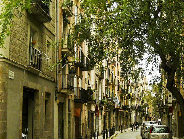 | ♕ |  Old street of Barcelona  | by © Jeremias Carroza | via ysvoice