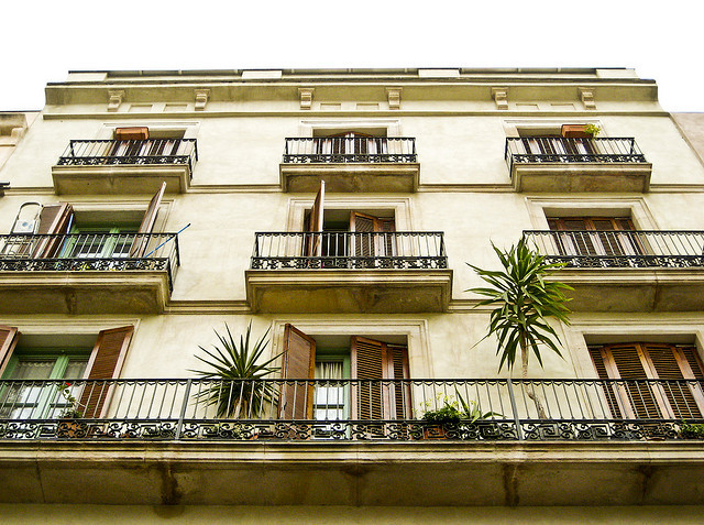 | ♕ |  Balconies in Barcelona  | by © Jeremias Carroza | via ysvoice