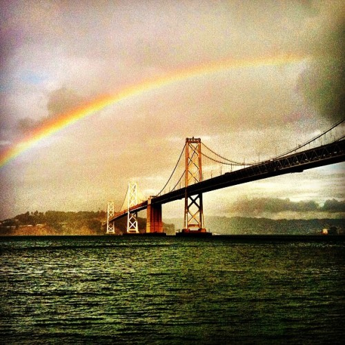 What does it MEAN??? (Taken with Instagram at Under The Bay Bridge)