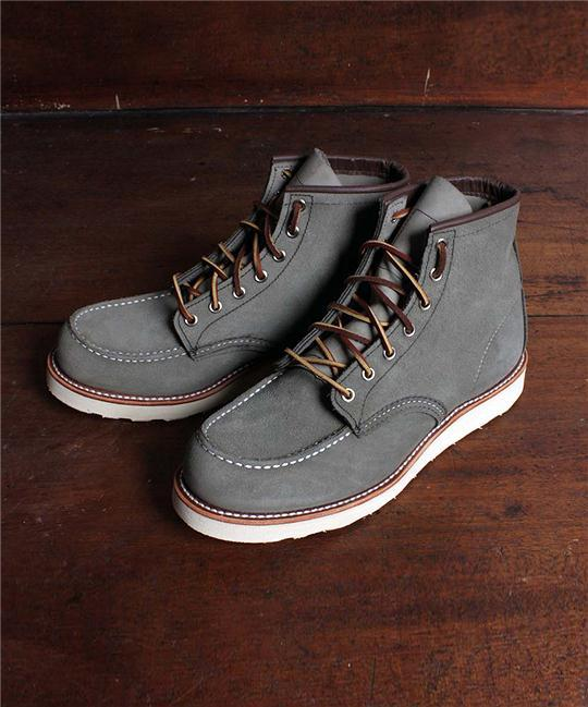 est-1988:  Them Autumn ol' faithfuls. (Red Wing Moc Toe Boot 875 in Sage.)