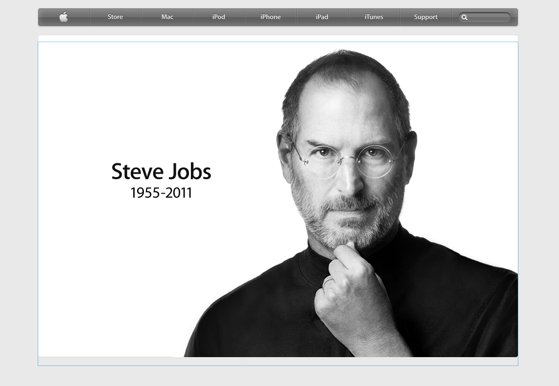 Screen Capture Of The Apple Website Right Now