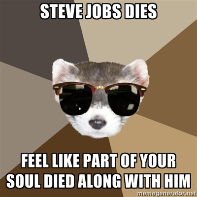 filmschoolferret:  Submitted by saraiiis RIP Steve Jobs. You legitimately ruled this world.