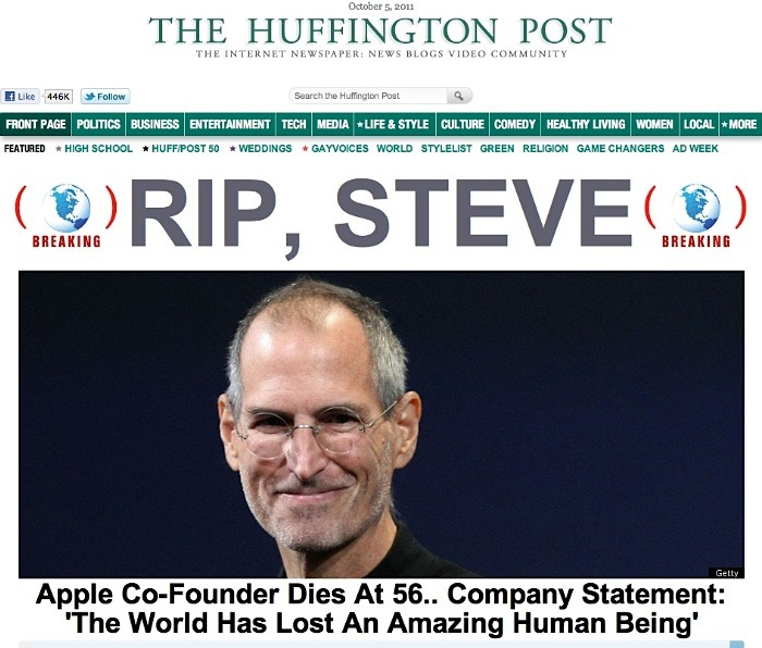 R.I.P. Steve Jobs.  What a loss!…… The mentor for the good half of my life.