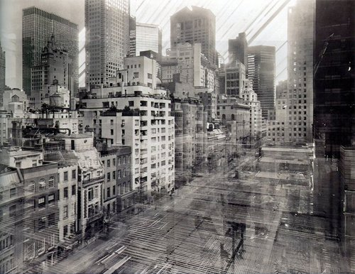 These photographs by Michael Wesely of New York's Museum of Modern Art have an exposure time of three years.