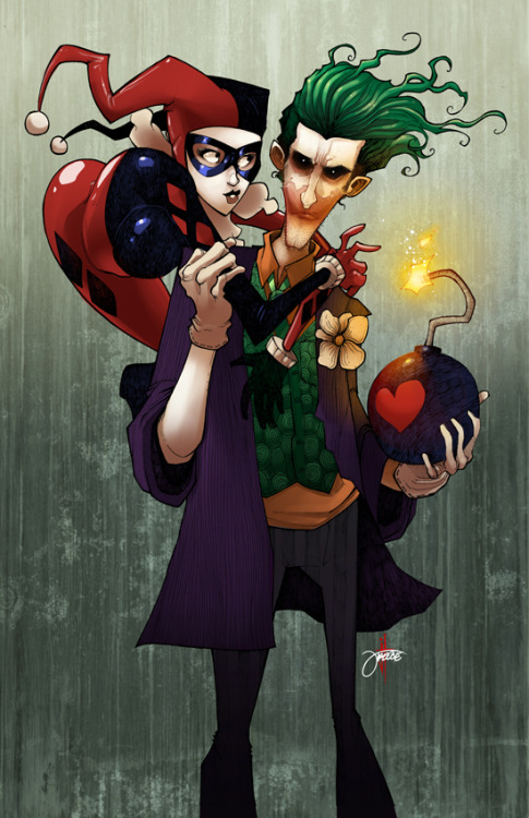 spoonr:  Harley and Joker Artist: Jeremy Treece